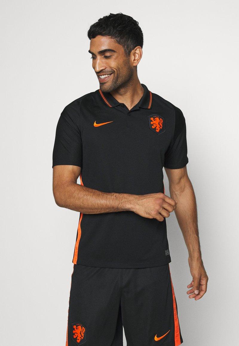 Nike Performance - NIEDERLANDE KNVB AWAY - Landslagströjor - black/safety orange