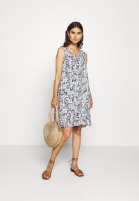Freequent - Day dress - chambray blue mix - 1