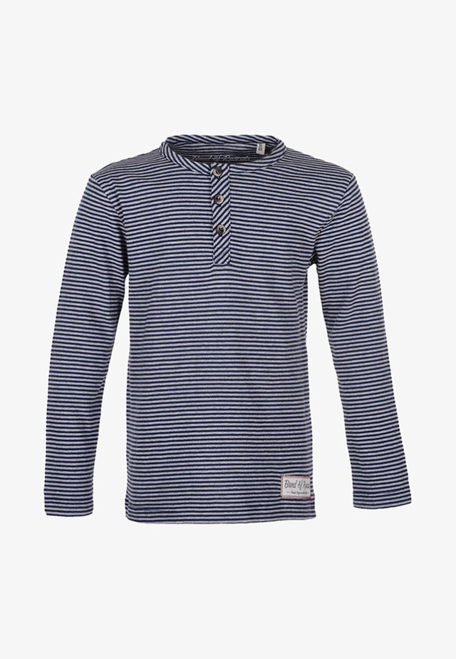 Long sleeved top - navy/grey