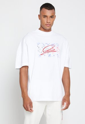 LEWIS HAMILTON UNISEX OVERSIZED LOGO TEE - T-shirt print - white