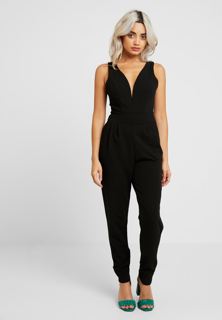 WAL G PETITE - EXCLUSIVE V NECK - Jumpsuit - black