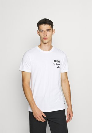 PUMA X MR TEE - T-shirt z nadrukiem - white