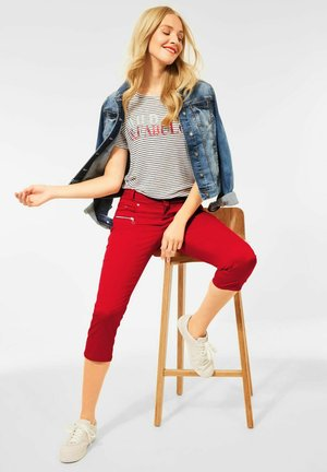 CASUAL FIT - Trousers - rot