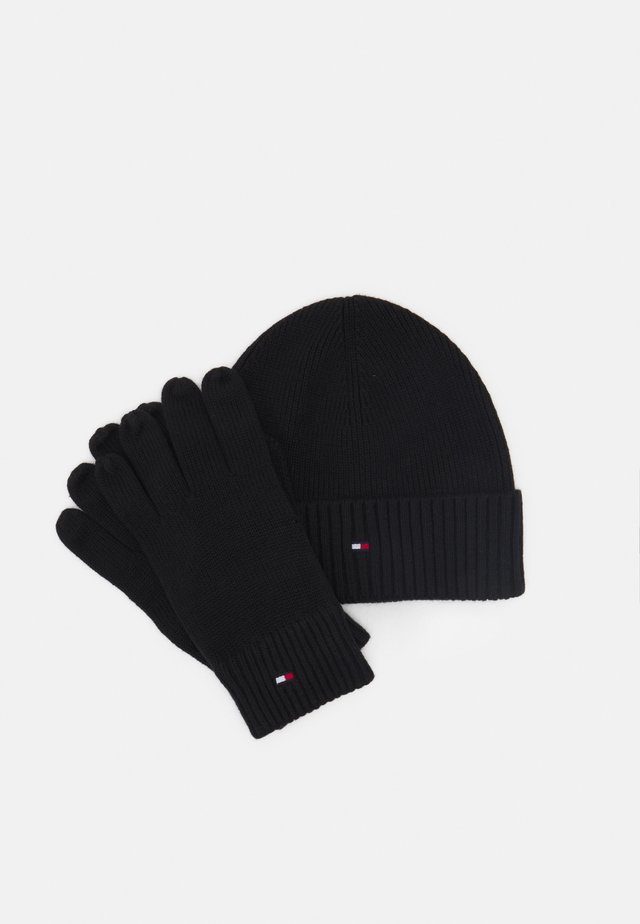 BEANIE GLOVES UNISEX SET - Mössa - black