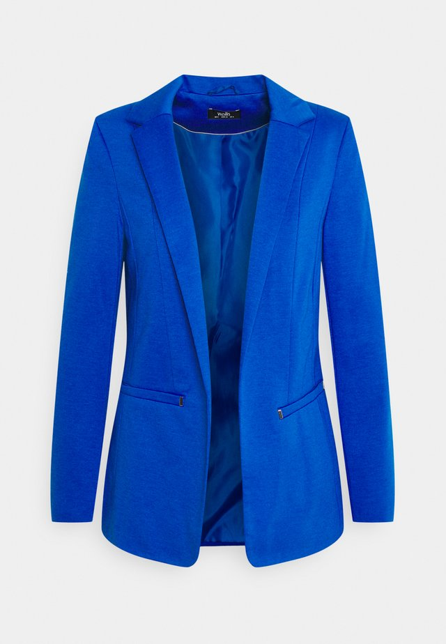 Halflange jas - cobalt