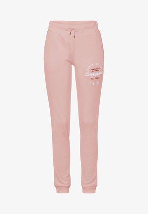 Tracksuit bottoms - dark-rosé