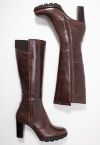 Anna Field Select - LEATHER PLATFORM BOOTS - Stivali con plateau - brown - 3