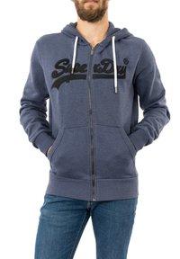Superdry - Zip-up sweatshirt - bleu - 0