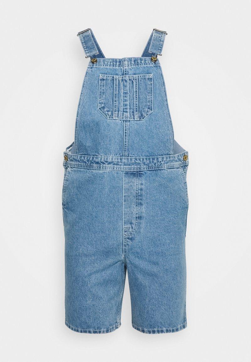 Jack & Jones - JJICHRIS JJDUNGAREE - Jeans Short / cowboy shorts - blue denim
