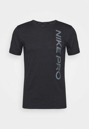 BURNOUT - Print T-shirt - black/smoke grey