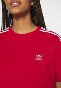 adidas Originals - TEE DRESS - Jersey dress - scarlet - 4