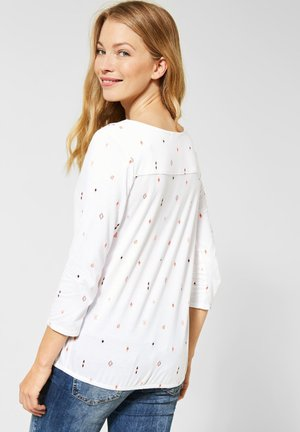 MIT IKAT PRINT - Long sleeved top - weiß