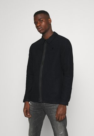 TYPE CLEAN OVERSHIRT - Summer jacket - black