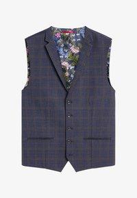 Next - CHECK SUIT - Suit waistcoat - blue - 0