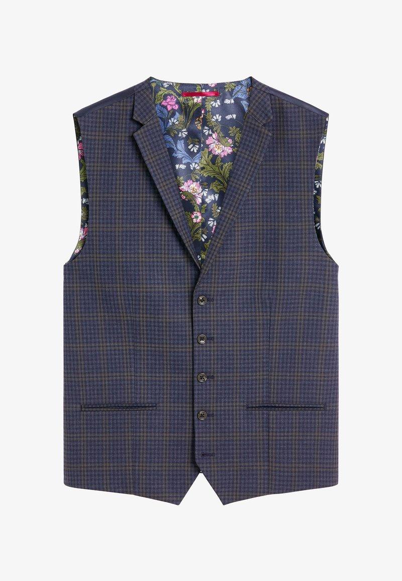 Next - CHECK SUIT - Suit waistcoat - blue