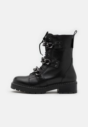 STORM - Lace-up ankle boots - black