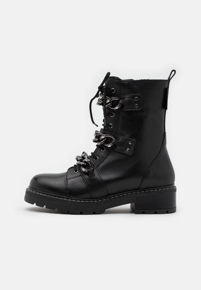 STORM - Bottines à lacets - black