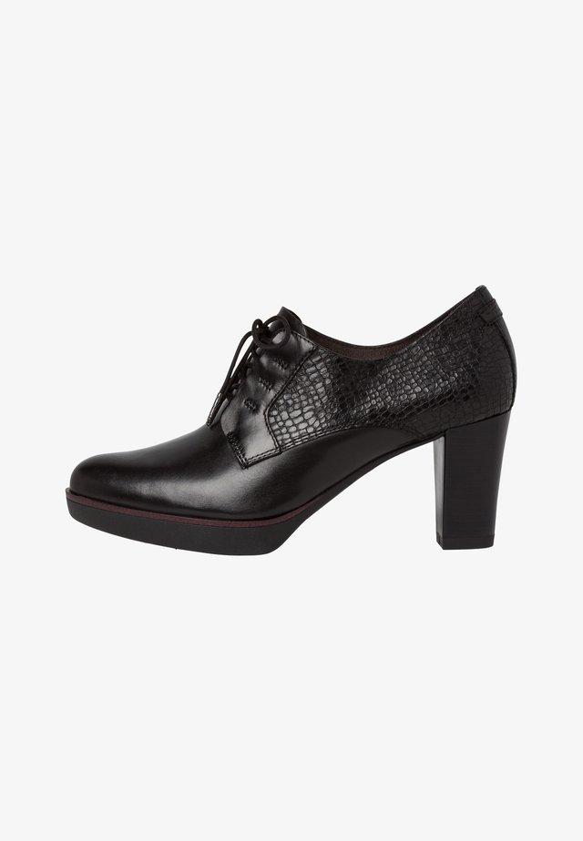 Zapatos de salón con cordones - black struct.