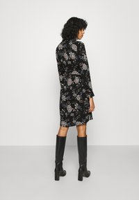 Vero Moda - V-NECK  - Shirt dress - black - 2
