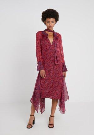 DRESS DIAMONDE - Maxi dress - navy/red