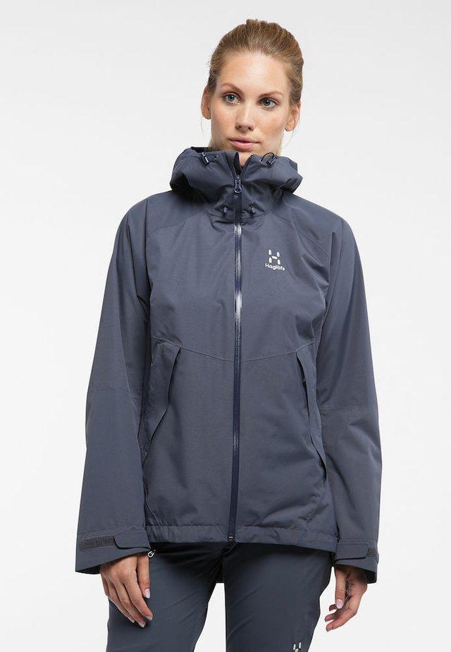 ESKER - Waterproof jacket - dense blue