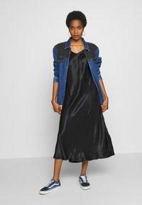 b.young - BYHALIMA SLIP IN DRESS - Denní šaty - black - 1