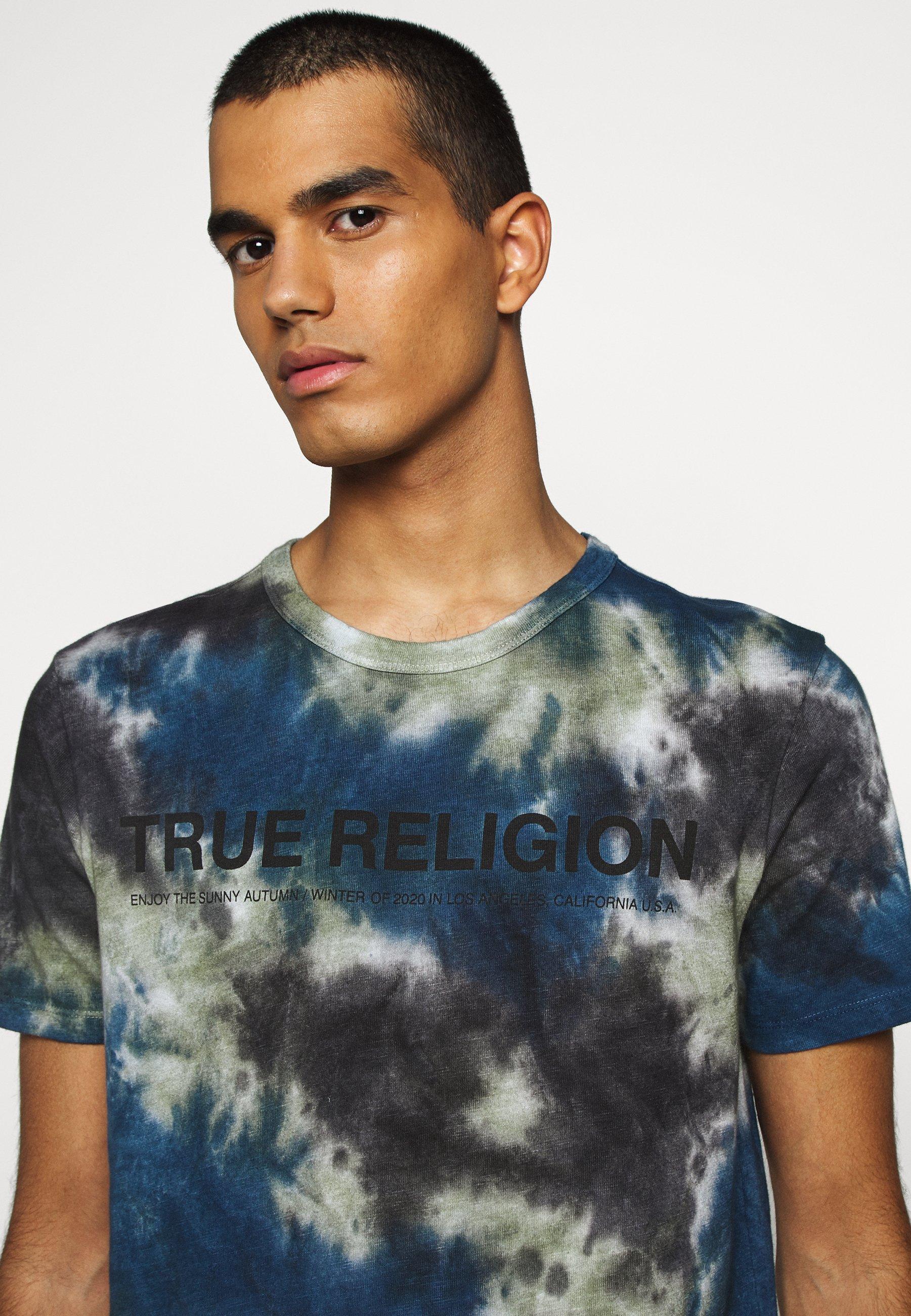 True Religion CREW BATIK - Print T-shirt - black lFGuh