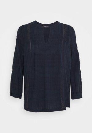 PINTUCK POPOVER - Blouse - dark blue