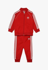 adidas Originals - SUPERSTAR SET - Sudadera con cremallera - scarlet/white - 0