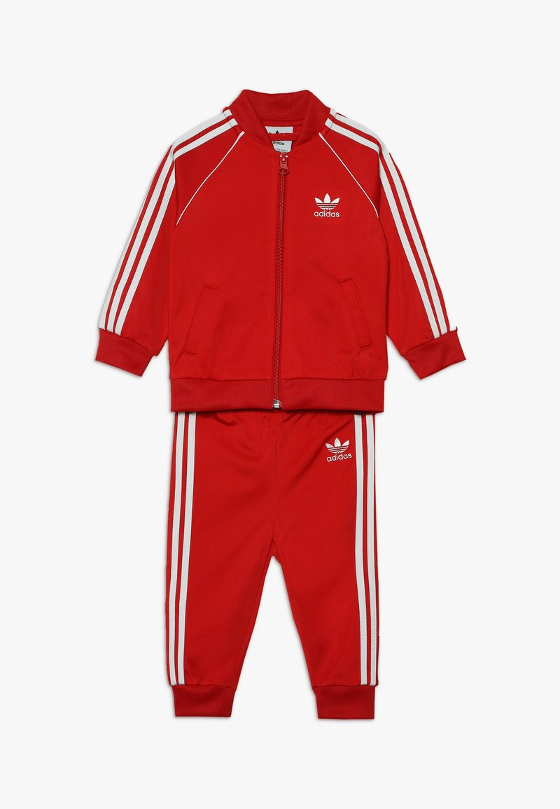adidas Originals - SUPERSTAR SET - Sudadera con cremallera - scarlet/white