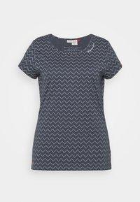 Ragwear Plus - ZIG ZAG - Print T-shirt - denim blue - 6