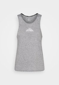Nike Performance - CITY SLEEK TANK TRAIL - Sports shirt - dark grey heather/silver - 3