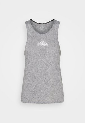 CITY SLEEK TANK TRAIL - T-shirt sportiva - dark grey heather/silver