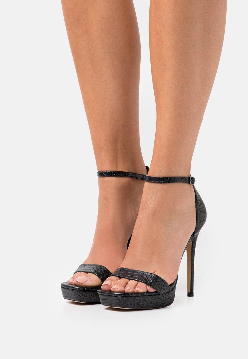 ALDO - SCARLETT - Platform sandals - black