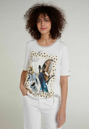 Print T-shirt - cloud dancer