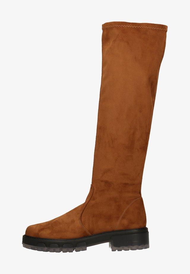 Platform boots - cuoio cm