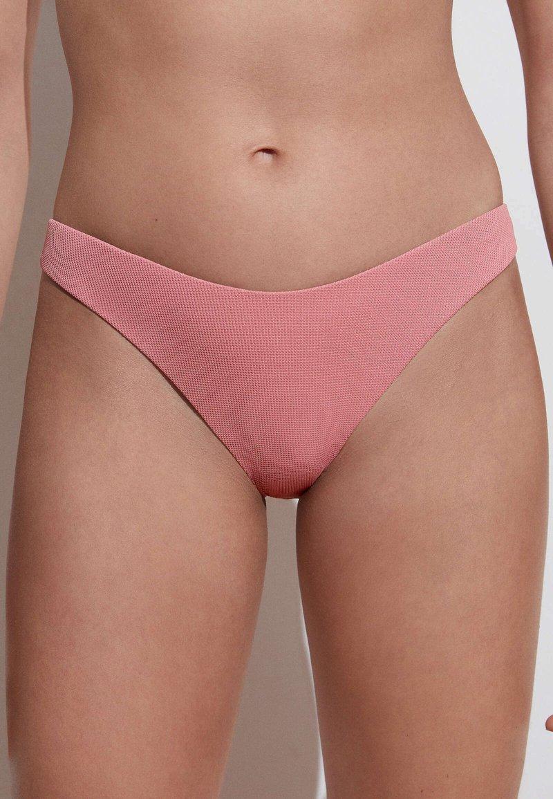 OYSHO - RECYCLED PIQUÉ CLASSIC - Bikini bottoms - light pink