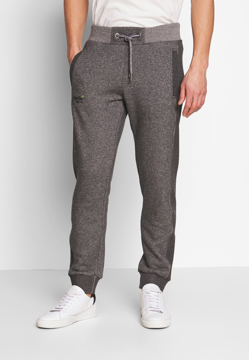 Superdry - ORANGE LABEL CLASSIC - Teplákové kalhoty - mid grey texture