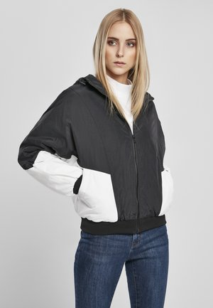 FRAUEN LADIES PADDED 2-TONE BATWING JACKET - Blouson Bomber - black/white