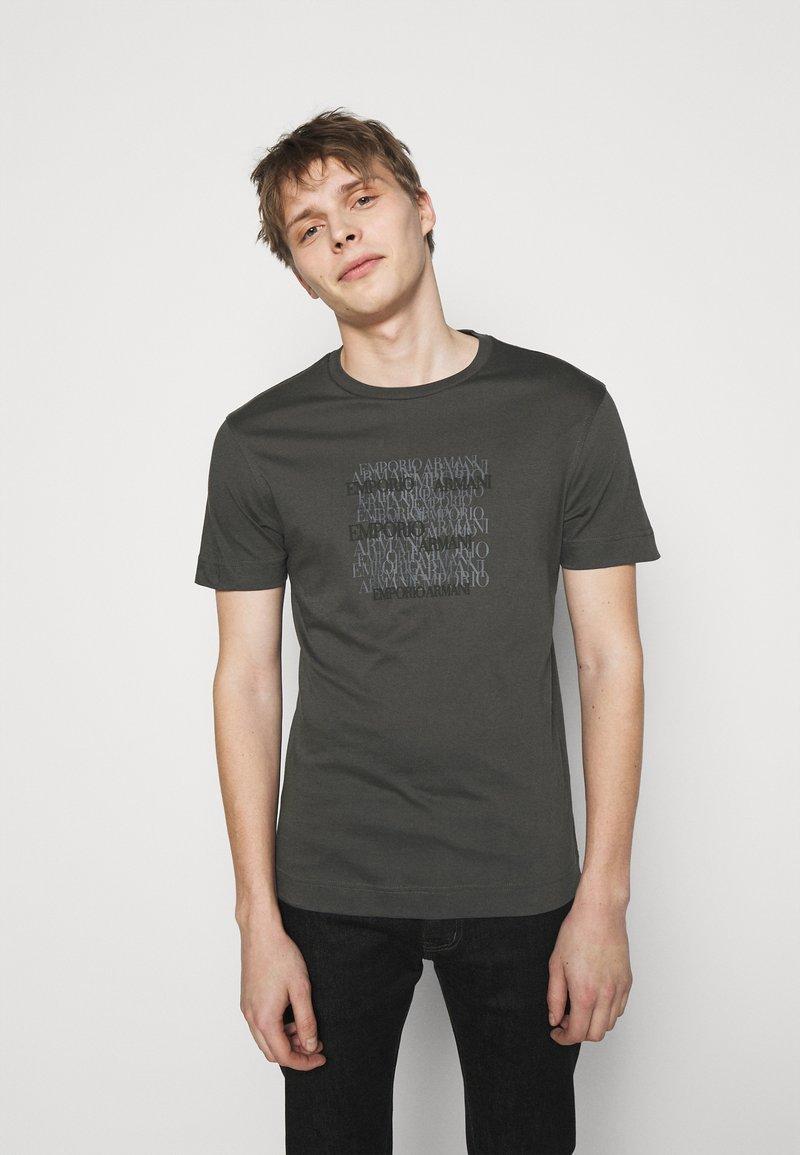 Emporio Armani - Print T-shirt - dark grey