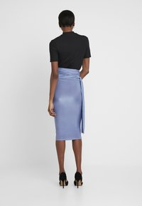 Missguided Tall - SLINKY KNOT FRONT SKIRT - Pencil skirt - blue - 3