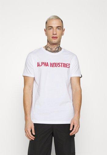 MOTO  - Printtipaita - white