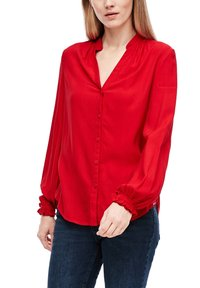 Q/S designed by - Button-down blouse - crimson red - 2
