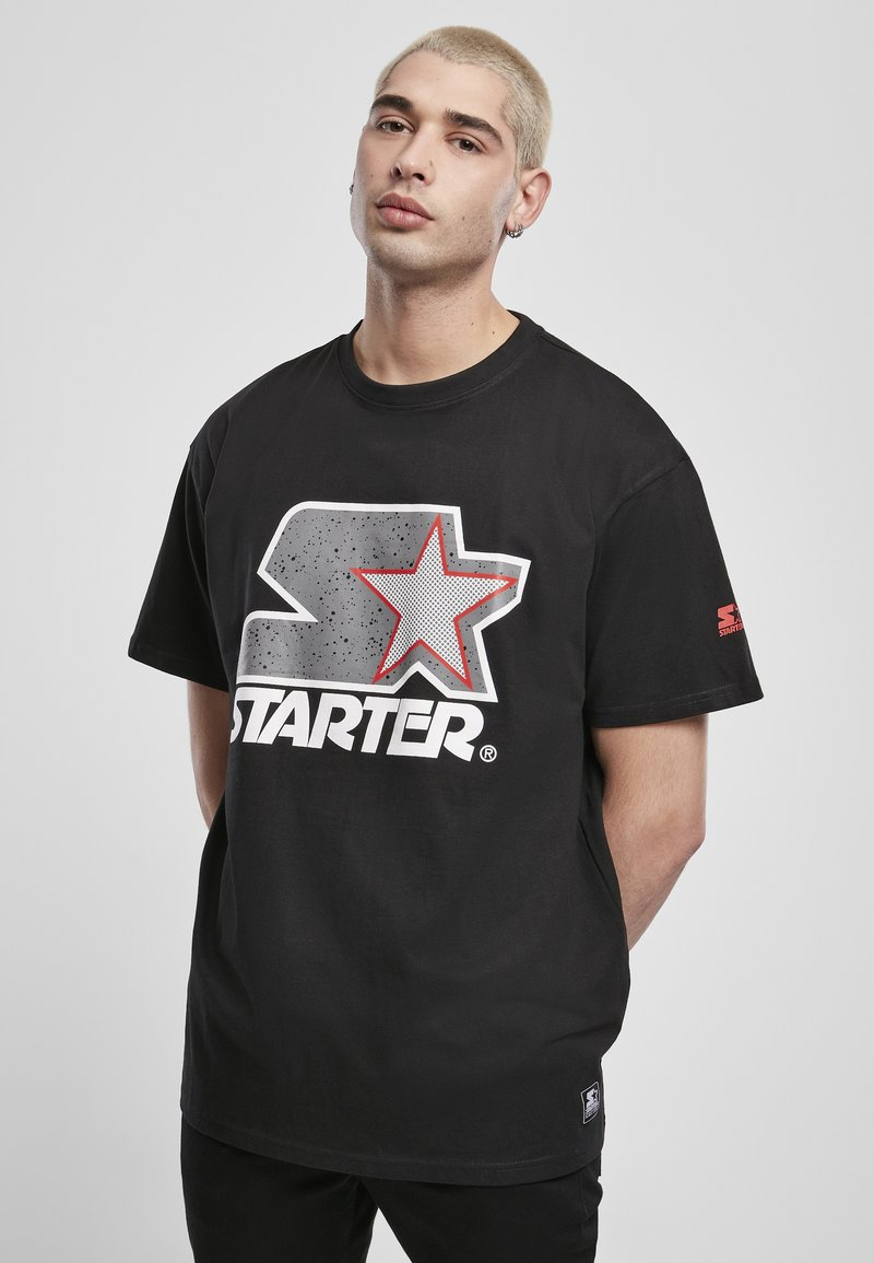Starter - Printtipaita - blk/gry