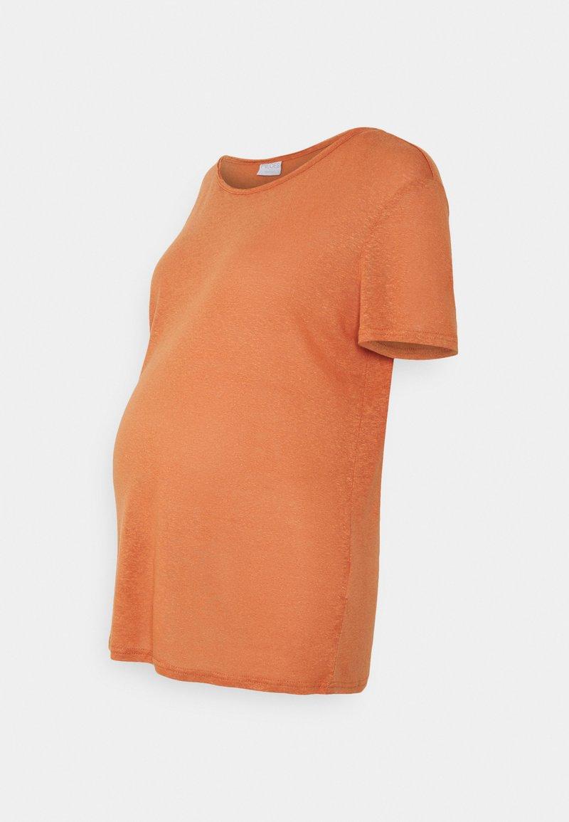 Pieces Maternity - PCMSORAYA TEE - Basic T-shirt - sunburn