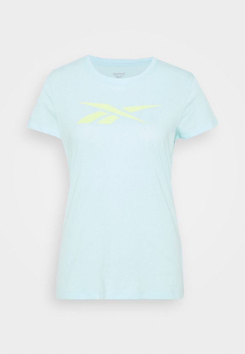 Reebok - TRAINING ESSENTIALS VECTOR GRAPHIC - T-shirt z nadrukiem - light blue