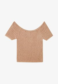 Stradivarius - Basic T-shirt - brown - 4