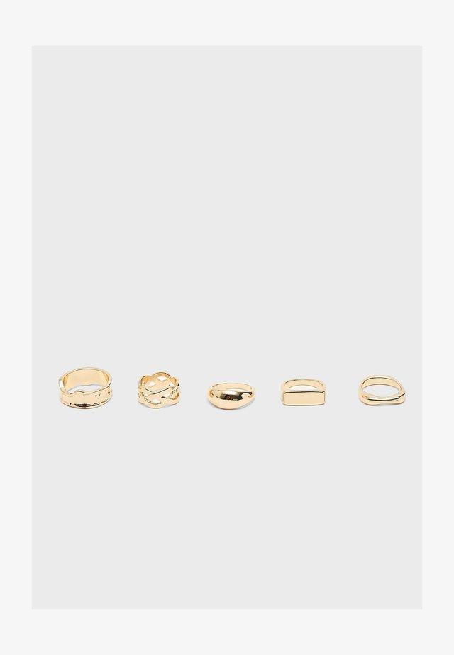 SET  - Prsten - gold