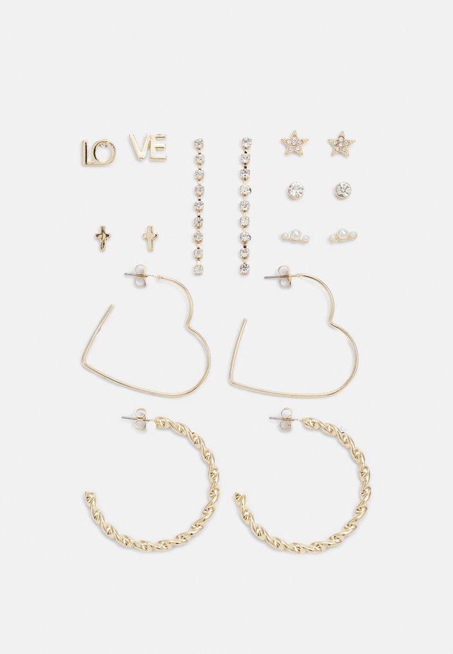 FGJOLENE EARRINGS 8 PACK - Earrings - gold-coloured