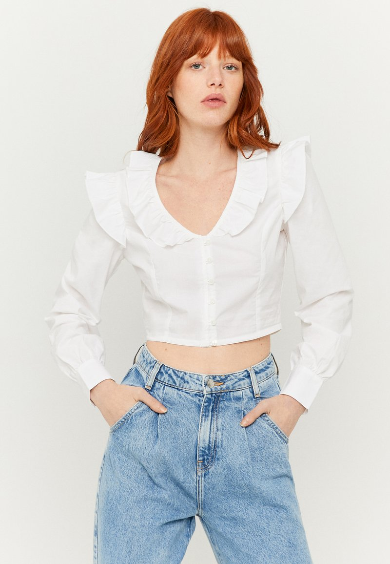TALLY WEiJL - MIT RÜSCHEN - Blouse - white